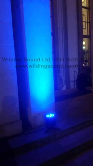 Walthamstow Assembly Hall venue lighting